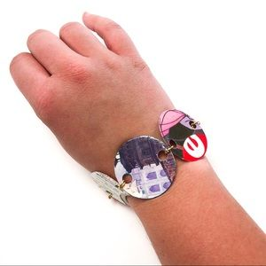 Pop Art Disney Recycled Paper Bracelet
